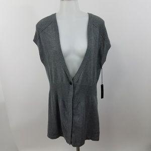Bcbg MaxAzria Sweater Cardigan XL Womens Gray
